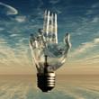 Pointing light bulb