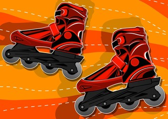 a pair of roller skates