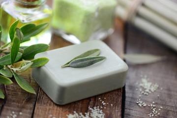 Olivenblätter, Seife