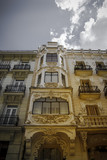 building facade typical of Madrid, Gran Via Street Madrid