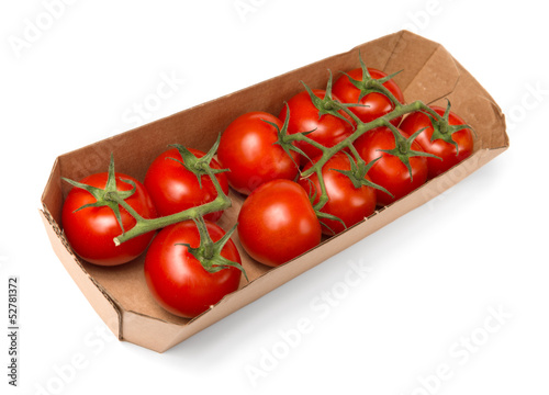 Tomatoes in paper tray