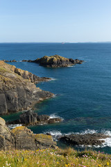 View from Pembrokeshire Coast Path St Brides Bay wales