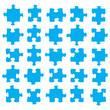 Blue jigsaw pieces