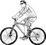 man riding a cycle