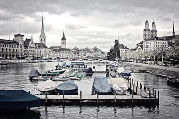 Stadtbild decoloriert - Zürich