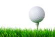 golfball am abschlag