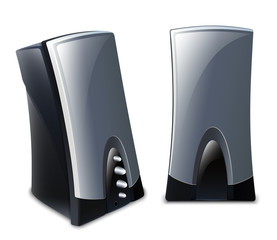 Vector audio speakers icon