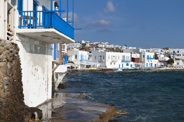 The small Venice of Mykonos island in Greece