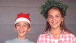 Siblings ready to celebrate christmas