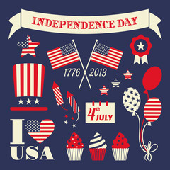 Independence Day Design Elements Set