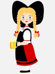 Alsacienne à la bière