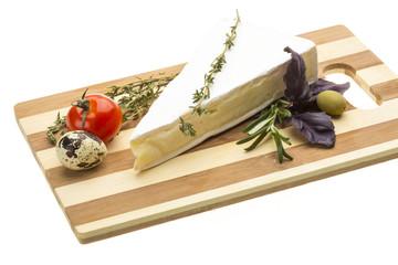 Wedge of Gourmet Brie Cheese