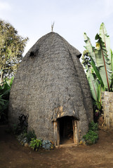 House of the Dorze people, Ethiopia