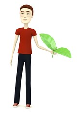 3d render of cartoon character with salat