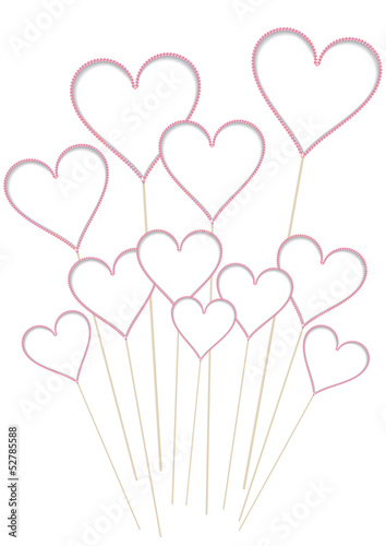 vintage valentine background with hearts