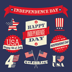Independence Day Design Elements Set