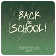 Back to school poster. Vector