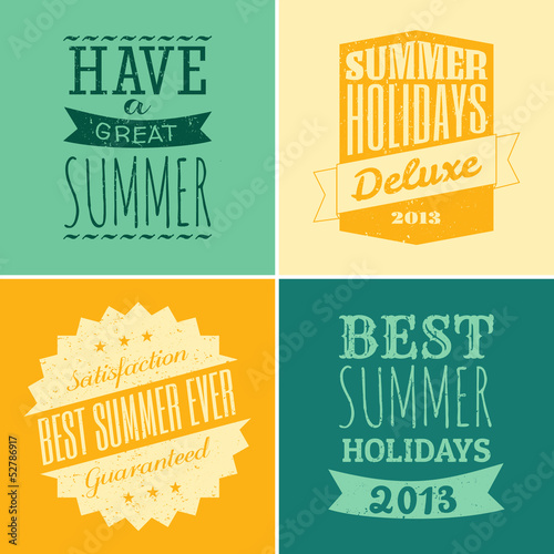 Typographic Summer Design