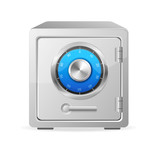 Vector metal safe icon. Security concept