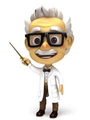 Professor with stick pointer