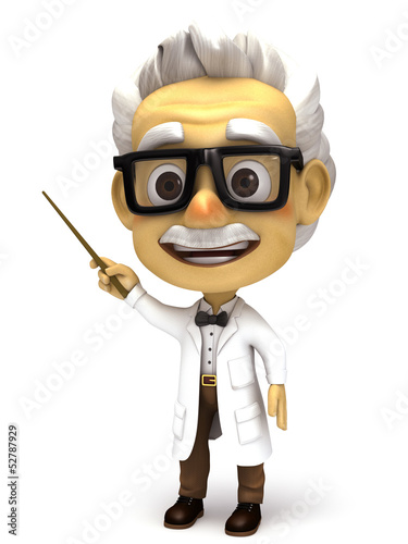 Professor with stick pointer
