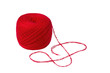 Ball of deep red yarn isolated on white