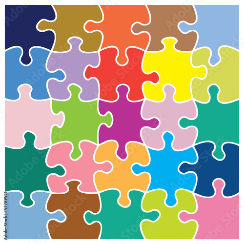 Colorful jigsaw pattern