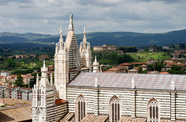 View over Siena and the Cathedral.