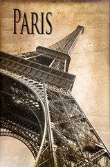 Tour Eiffel Paris, vintage