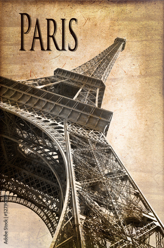 Tour Eiffel Paris, vintage - 52790190