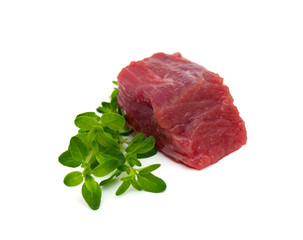 pieces of fresh beef