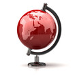 Red earth globe