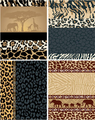 African style vector labels