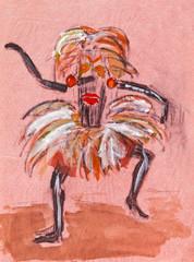 shaman in ritual mask