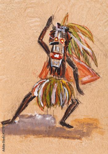Fototapeten,schamane,dancing,voodoo,tanzen