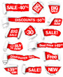 Premium collection of red paper. Vector