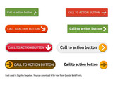 8 High quality vector cta buttons for website