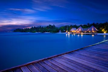 Abendstimmung Malediven Steg