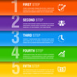 Abstract business infographics template