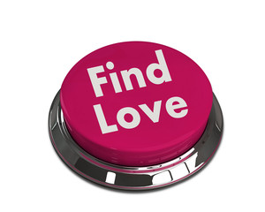 online dating concept - find love button