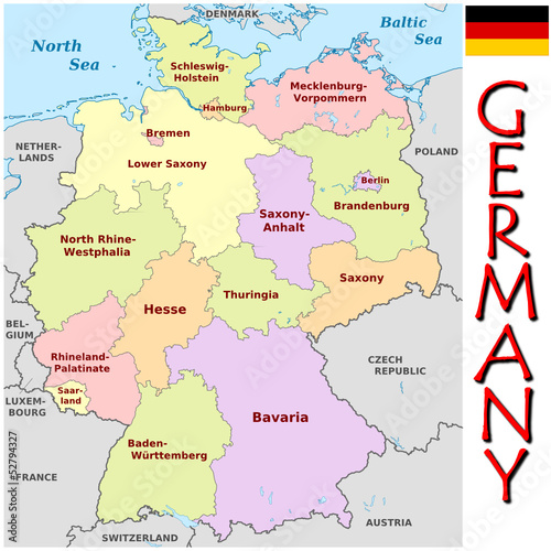 Germany Europe emblem map symbol administrative divisions