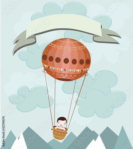 boy in air ballon