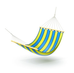 hammock vector illustration isolated on white background