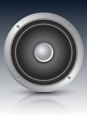 Audio speaker icon, vector illustration