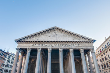 The Pantheon, a temple to all the gods of Rome in Italy