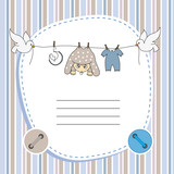 Baby boy card. Space for photo or text