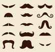 Stylish Retro Mustaches big collection ( vector )
