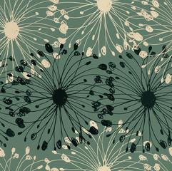 Green grunge circle pattern