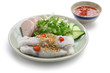 banh cuon, vietnamese steamed rice noodle roll