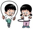 Vector illustration of Kids Exercising